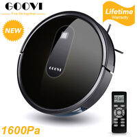 GOOVI Smart Vacuum Cleaner Robot With Remote Control  1600PA Auto Dust Sweeping