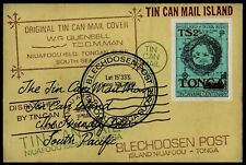 TONGA, SCOTT # 520A, MINI SHEET OF ORIGINAL TIN CAN MAIL COVER, BLECHDOSEN POST