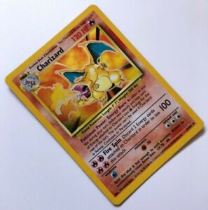 CHARIZARD Pokemon Card 1999 | Base Set 4/102 | Holo Rare - Good Condition!
