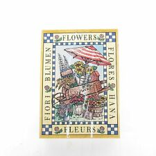 """Hero Arts """"SUPER FLOWER CART"""" S1167  Large Rubber Mounted Stamp 5 1/4"""" x 3 7/8"""""""