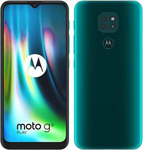 """New Motorola Moto G9 Play Green 6.5"""" 64GB Dual SIM Android 10 Unlocked Sim Free"""