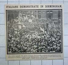 1915 Demonstration Held By Italians Resident In Birmingham