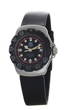 Tag Heuer Professional Women's Black Red Formula 1 F1 Leather Band Watch 374.508