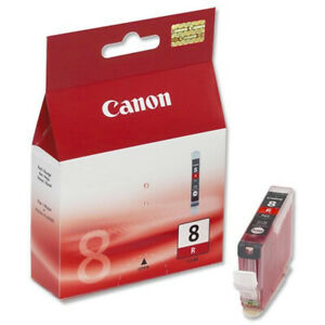 Genuine Canon Ink Cartridges - PIXMA CLI-8R RED Cartridge - BRAND NEW SEALED