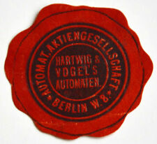 Automaten Hartwig & Vogel´s Berlin W.8. Siegelmarke Vignette (6922)
