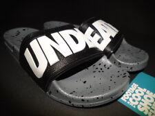 UNDEFEATED SLIDE SLIDES SLIPPERS UNBALANCE GREY SPLATTER CEMENT BLACK WHITE 7