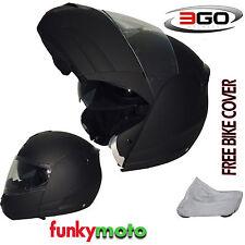3GO Viper Rs115 Helmet Flip Front Motorbike Flip-up Motorcycle DVS ECE ACU Black L Large Cover