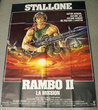 Affiche de cinéma : RAMBO 2 de GEORGE PAN COSMATOS