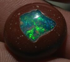 15 ct ETHIOPIAN NATURAL FIRE OPAL INLAY CAB GEMSTONE TO NICE SETTING JEWELRY