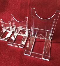 display stands clear acrylic two part adjustable three sizes