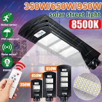 950W 95000LM LED Solar Street Light PIR Motion Sensor Wall Lamp Outdoor + Remote