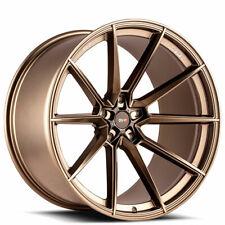 4ea 22x10/22x12 Staggered Savini Wheels SV-F4 Matte Bronze Rims (S6)