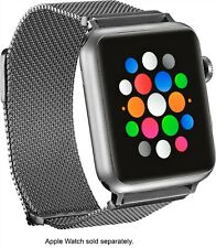 Platinum - Magnetic Stainless Steel Mesh Band for Apple Watch 42mm/44mm - Silver