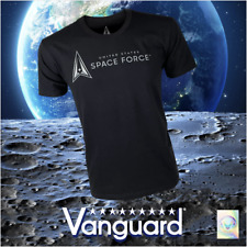 SPACE FORCE LEISURE T-SHIRT: BLACK WITH SPACE FORCE LOGO
