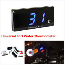 Blue LCD Digital Water Temp Thermometer Gauge Meter For Motorcycle Scooter ATV