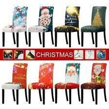 New Christmas Season Universal Size Chair Cover Stretch Seat For Wedding Banquet