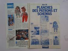 patron  poupée modes et travaux 06/91