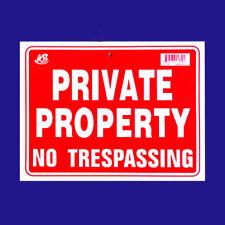 "4 PRIVATE PROPERTY NO TRESPASSING  Flexible Heavy  Plastic  Sheet  9""x12"" 4 Sign"
