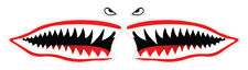 2 x Shark Mouth Funny Car Sticker, Self-Adhesive Vinyl, Van Decal