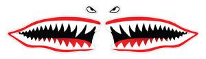 2 x Shark Mouth Funny Car Sticker, Self-Adhesive Vinyl, Van Decal