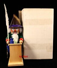 "Steinbach German Nutcracker ""Big Schreiber� S689 With ""West Germany"" Stamp"