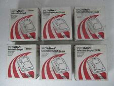 Lot Of 6 System Sensor Spectralert Wall Fire Alarm Strobe Red S1224mc