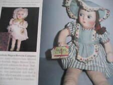 2pg 1930's - 50's Cloth Doll Magazine Article /La Bambola Magica Brevette/E.B.I.