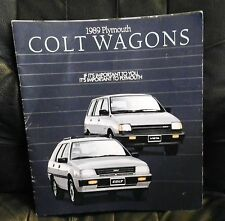 1989 Plymouth Colt  wagon brochure