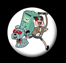 Adventure Time Lord 25mm Badge - mash up inpired by Doctor Who/Adventure Time