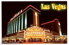 Sam Boyd's California Las Vegas Hotel & Casino postcard UNUSED night neon Cool N