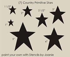 Joanie Stencil Country Primitive Star Shapes Americana Patriotic U Paint Signs