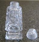 SINGLE CUT GLASS CRYSTAL LARGE SALT/PEPPER SHAKER