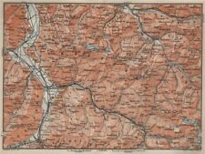 BAD RAGAZ PRÄTIGAU MONTAFON ENVIRONS. Wangs Rätikon Bludenz Maienfeld 1909 map