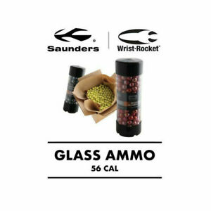 Saunders 56 Caliber Glass Ammo w/ Reusable Dispenser Made in USA- 100/Pack