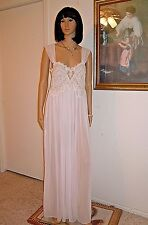 JONQUIL by DIANE SAMANDI Neiman-Marcus vintage nightgown SOFT PINK size L Large