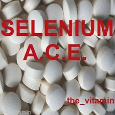 SELENIUM & Vitamins A C E.  365 Tablets    One or two per day       (L)