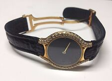 LADIES  EBEL BELUGA 18KT GOLD BLACK FACE WITH DIAMONDS MODEL 884960