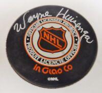 WAYNE HUIZENGA Signed Hockey Puck Autograph Signature NHL Florida Panthers RARE