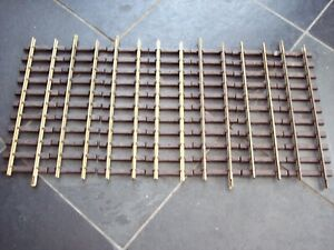 7 LGB 10000 G SCALE MODEL RAILWAY 300mm BRASS TRACK STRAIGHTS