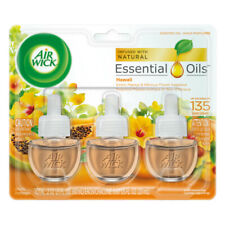 Air Wick Scented Oil Air Freshener, Hawaii Scent, Triple Refills, 0.67 Ounce