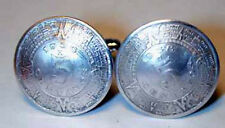 Ancient Mayan Calendar coin cuff links-vintage-handmade in the USA