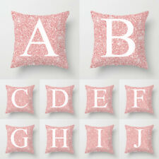 Pink Glitters Letters Pillow Case Sofa Car Pillow Cushion Cover Home Decoration