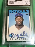 1986 Topps Traded #50T Bo Jackson (Rookie), GMA 8 Graded as NM-MT