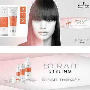 schwarzkopf strait therapy hair straightening cream 0 , 1 or 2 300ml treatment