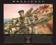 Albert Jacka The Victoria Cross For Valour Gallipoli Anzacs LE Print Unframed