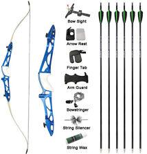 "66"" 68"" 70"" Takedown Recurve Bow Arrow Set Archery Target Shooting Competition"