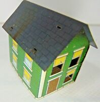 Vintage WEST BROS Green House TIN LITHO CANDY CONTAINER MINIATURE ROOM BOX DOLL