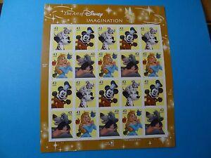 Stamps US * Sc 4342-46 * DISNEY IMAGINATION * 2008 * 42c * MNH * Sheet of 20