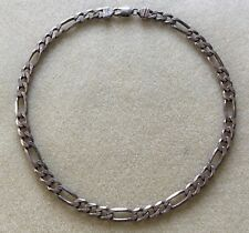 Men's Sterling Silver Necklace Thick Links 8mm 18 Inch 925 Italy MG 45.8 Grams