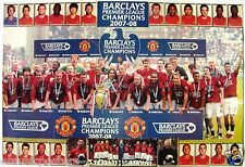 "MANCHESTER UNITED ""2007/08 CHAMPS:PLAYERS' PHOTOS & CELEBRATION ON PITCH"" POSTER"